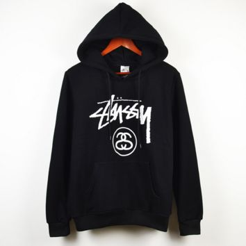 Black Comfortable Hooded Sweatshirt