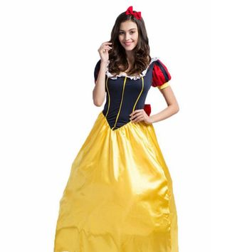 Snow white costume adult snow white disfraces adultos halloween costumes medieval plus size halloween costumes for women