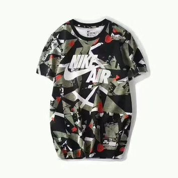 Nike air camouflage short sleeves top blouse shirt