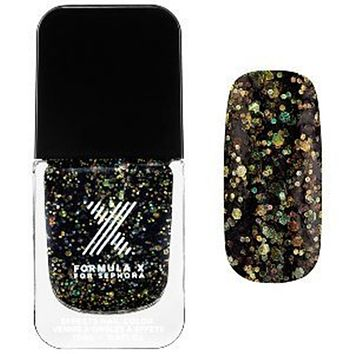 Superwatts Nail Polish Formula X for Sephora Explosive - Black Rainbow Mega-glitter