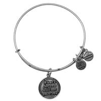 Alex and Ani What's For You Will Not Pass You Charm Bangle Bracelet...