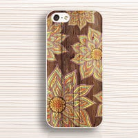 Classic mandala case,IPhone 4s case,wood mandala,IPhone 4 case,flower IPhone 5s case,IPhone 5c case,mandala flower, 5 case,AN11263