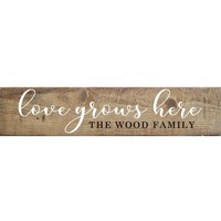 Personalized Love Grows Here Barn Board | 44-in