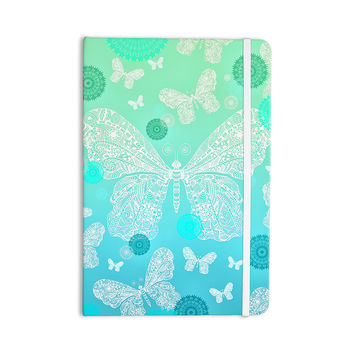 "Monika Strigel ""Butterfly Dreams Mint"" Aqua Teal Everything Notebook"