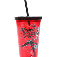 DC Comics Harley Quinn Hearts Acrylic Travel Cup