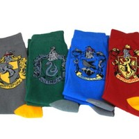 Wizarding World Harry Potter Hogwarts House Crest 4 Pc Socks Set Exclusive