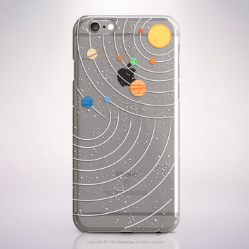 Clear Rubber iPhone 6 Case Solar System iPhone 6S Case Clear iPhone SE Case Zodiac iPhone 6S Plus Case Clear iPhone 6 Plus Case S6 Edge Case
