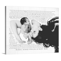 New Baby Photo Canvas with Custom Words Photo Mother's Day Gift - Geezees