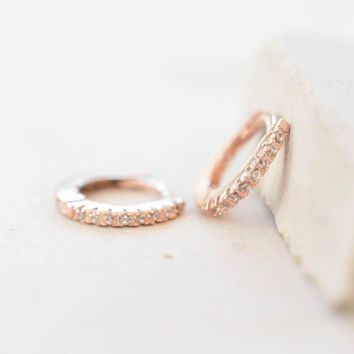 Mini Ear Huggies   Rose Gold