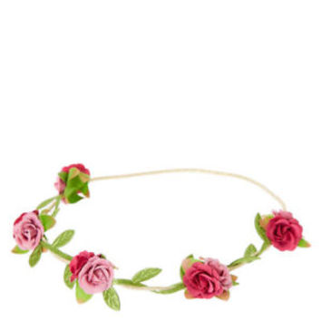 Claire's Girl's Berry Rose Flowers Headwrap in Pink.