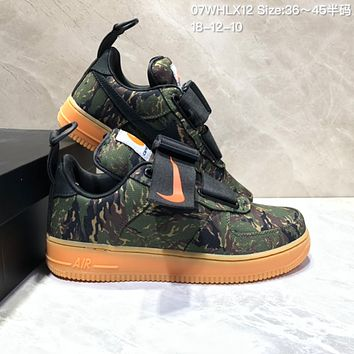 HCXX  N702 Nike Air Force 1 Utility QS AF1 Low Sports Casual Skate Shoes Green