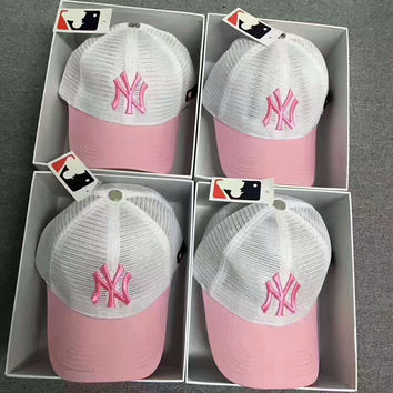 NY New York Women Men Sport Mesh Embroidery Baseball Cap Hat