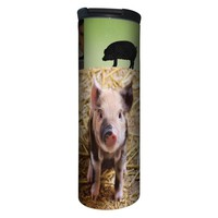Pig Collage Barista Tumbler Travel Mug - 17 Ounce, Spill Resistant, Stainless Steel & Vacuum Insulated