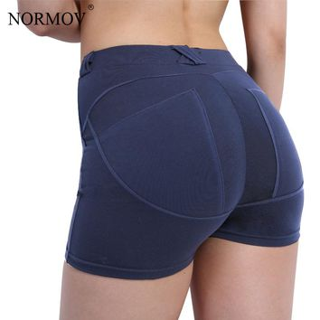 NORMOV S-XL 3 Colors Fashion Sexy Push Up Women Shorts Casual Summer Black Cotton Shorts Slim Workout Bodybuilding Short Femme