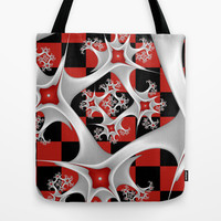 Red Black and White, Fractal Art Tote Bag by gabiw Art | Society6
