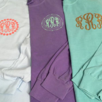 Monogrammed Comfort Colors Short Sleeve T-Shirt