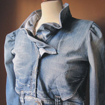 Your Ruffle Denim Jacket by TheButterfliesShop