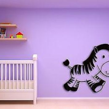Wall Sticker For Kids Baby Zebra Modern  Cool Decor for Nursery Room Unique Gift z1401