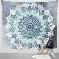 Printed Rectangle Beach Blanket - Vessos