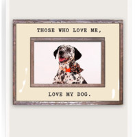 Love Me, Love My Dog Copper & Glass Photo Frame