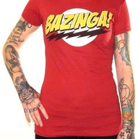 Big Bang Theory Girls T-Shirt - Bazinga