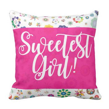 Sweetest Girl Pillow For Baby Girls