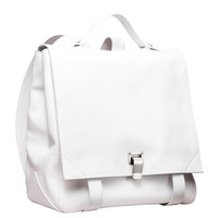 Proenza Schouler PS Large Backpack - White Leather Bag - ShopBAZAAR