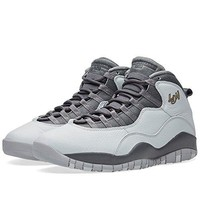Jordan Air Jordan Retro 10 Men Round Toe Synthetic Black Basketball Shoe  jordans shoes for men