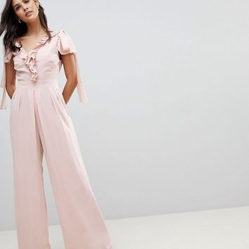 ASOS Jumpsuit with Soft Ruffle Detail at asos.com