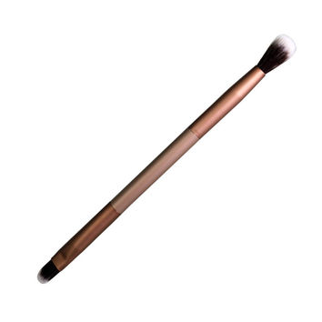 New Double head cosmetics makeup brushes Eyelashes Blush  Elegant Bleached mental Eye shadow brush Professional Styling Tools