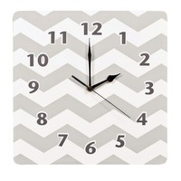 Trend Lab Chevron Wall Clock (Grey)