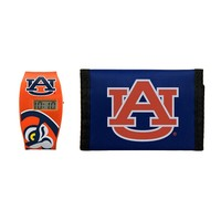 Auburn Tigers Lil' Sport Watch & Trifold Wallet Gift Set - Kids (Aub Team)