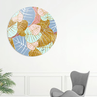 «Floral Gold», Exclusive Edition Disk Print by Uma Gokhale - From $59 - Curioos