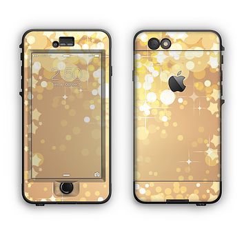 The Gold Unfocused Sparkles Apple iPhone 6 LifeProof Nuud Case Skin Set