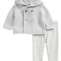 Tea Collection Hooded Knit Jacket & Pants Set (Baby) | Nordstrom