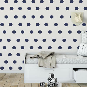 "Polka Dot Wall Decal - 2"" x 2""  Polka Dots - Nursery Wall Decor - Round  Stickers - Kids Room Decor - Teen Room Polka Dot -150pc set - nm014"