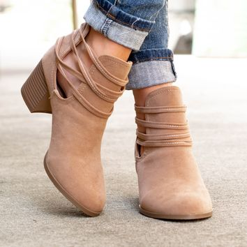 Strappy Side Peek Booties