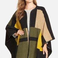 Women's Vince Camuto Blanket Jacquard Poncho,