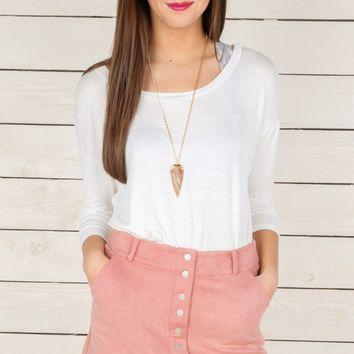 Crazy Love Suede Skirt-Dusty Rose