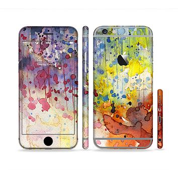 The WaterColor Grunge Setting Sectioned Skin Series for the Apple iPhone 6 Plus