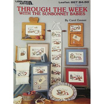 Through the Week with the Sunbonnet Babies - Counted Cross Stitch Leaflet - Leisure Arts