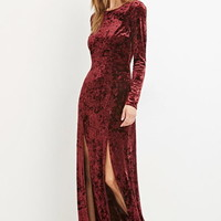 Crushed Velvet Maxi Dress