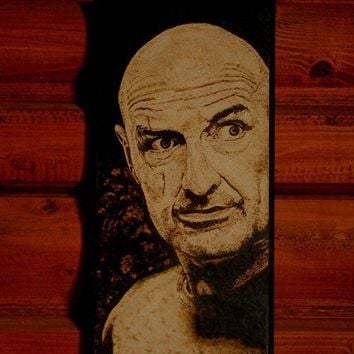 John Locke , LOST art - woodburned home decoration
