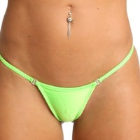 New Yellow Breakaway Thong With Swarovski Rhinestone Clips