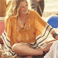 Sexy Chiffon Swimsuit cover up Beachwear Loose V-neck Bathing suit Cover ups 2017 Summer Bikini cover up Beach Tunic Pareo