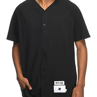 Undefeated Cahil Pique Black Baseball Jersey