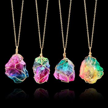 Rainbow Quartz ~ Necklace