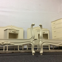 "Six Piece Bedroom Set--Vintage French Provincial Bedroom Set by Drexel ""Touraine"" Collection"