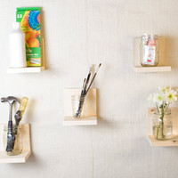 Simple Shelf - Wall Storage - Bookshelves - Floating Shelf - Set of 5 - Natural Wood