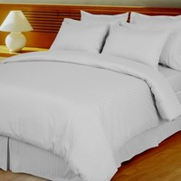 Stripe Microfiber 3-Piece Duvet Cover Set